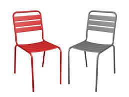 chaise jardin aluminium chaise de jardin design et élégante