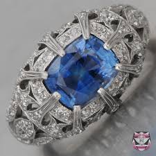 jewelry rings art deco sapphire engagement ring