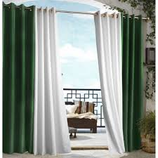 patio ideas outdoor drapes for patio with green and white shades