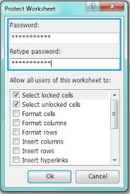 how to protect multiple worksheets at once in excel