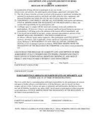 member agreement liability waiver template legal documents