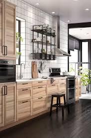 ikea cabinet ideas ikea natural wood kitchen cabinets trekkerboy