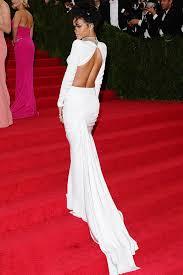 rihanna white long sleeve two piece elegant mermaid prom dress met