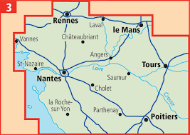 Rennes France Map by Aa Shop Aa Touring Map Loire Valley