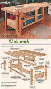 Build Wood Workbench Plans by Shaker Workbench Plans Workshop Solutions Projects Tips And