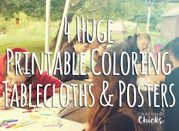 printable coloring tablecloths posters crafting