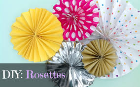 diy rosettes simple decorations graphique