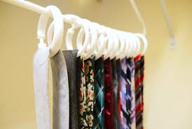 organize scarves and ties with shower curtain hooks cnet