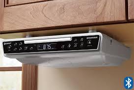 under cabinet radio bluetooth sylvania under cabinet cd player with bluetooth fm radio clock