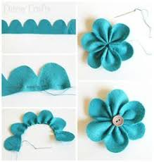 diy felt flower ornament craft diy flower