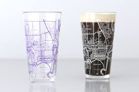 State College Map by Manhattan Ks Kansas State College Town Map Pint Glass Set