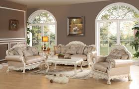 3 piece dresden antique white wood trim sofa set usa furniture