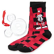 mickey mouse holiday socks in ornament adults shopdisney