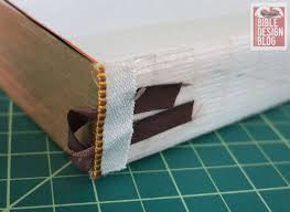 book headband inside a book block bible design