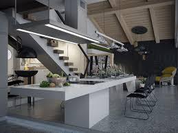 modern penthouse design and furniture arrangement