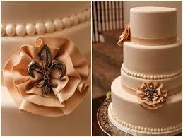 fleur de lis wedding cake grant humphreys mansion wedding denver photographer