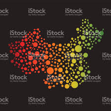 Data Map China Connectivity Data Map Vector Illustration Stock Vector Art