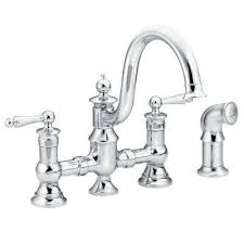 bridge style kitchen faucet bridge faucets kitchen faucets the home depot