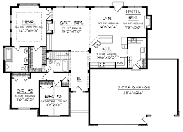 ranch house plans open floor plan open floor small home plans ranch with open floor plan hwbdo14044
