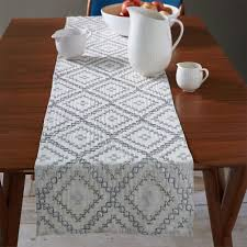 table runner embellished diamond table runner west elm