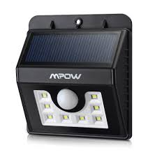 Outdoor Patio Solar Lights by Mpow Solar Light 8 Led Outdoor Wireless Waterproof Security Motion