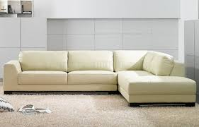 Modern Leather Sectional Couch Sf6573 Ivory Full Leather Modern Sectional Sofa By At Home Usa