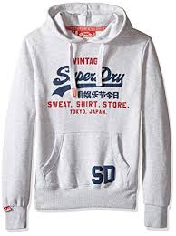 amazon com superdry men u0027s sweat shirt store hoodie ice marl xx