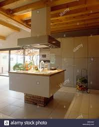 modern kitchen extractor fans large extractor fan above sink in island unit in modern white