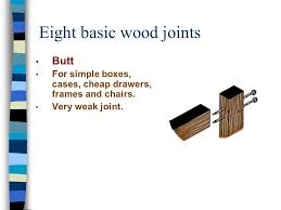 Woodworking Joints For Drawers by Wood Joints Glues And Clamping Pages And Joint Handouts Ppt