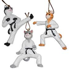 karate cat ornaments martial arts cat ornament fighting cats