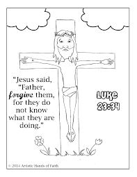 coloring pages jesus carrying cross on the page about holidays cro