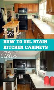cabinet how to gel stain kitchen cabinets kitchen makeover in