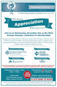member appreciation breakfast west orange chamber of commerce
