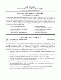 Superintendent Resume Examples by Maintenance Manager Resume Sample All Trades Resume Writing