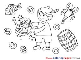 mug beer oktoberfest children free coloring pages