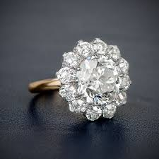cluster engagement ring 17 best images about oec ring on beautiful vintage
