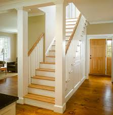 oak stair treads staircase farmhouse with closed staircase entry