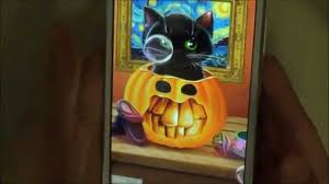 halloween moving screensavers cute halloween live wallpaper with animated kitten for android