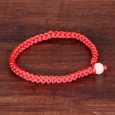braided cord bracelet images Braided lucky beaded bracelet adjustable red cord bracelet with jpg