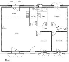 plan maison 80m2 3 chambres plan maison plain pied 80m2 3 chambres bricolage maison