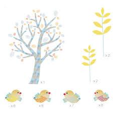 Stickers Arbre Blanc by Chambre Fille Oiseau U2013 Paihhi Com