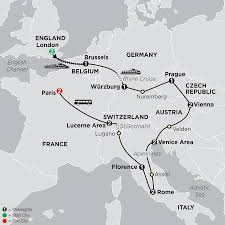 Map Of Switzerland And Germany by Central Europe Tour Cosmos Affordable Tour Packages
