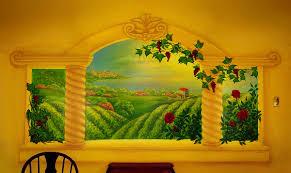 monas murals italian vineyard