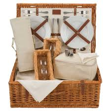 Wine Picnic Baskets Optima Natural Traditional Wine Lovers Picnic Basket 2 Or 4 Persons