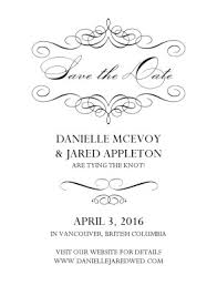 printable formal swirl save the date card template