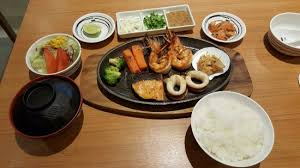 set cuisine seafood steak set ร ปถ ายของ fuji japanese restaurant เว ยงจ นทน