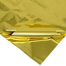 gold mylar tissue paper mylar embroidery sheets gold big 20 x 30 in free s h