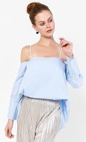 light blue off the shoulder top lucy off shoulder top in light blue fashionvalet