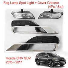 2016 honda crv fog lights fog l spot light cover chrome set honda crv cr v suv fit 2015