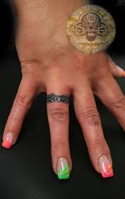 wedding ring tattoo great idea for guys that don u0027t like to wear